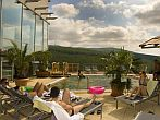 Outdoor pool with breath-taking panorama in Hotel Residence Ozon Matrahaza